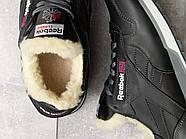 Зимние кроссовки  на мехуReebok Classic, черные (31111) размеры в наличии ► [  (последняя пара)  ], фото 5