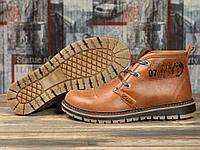 Зимние мужские ботинки 31121, Clarka Ultra Moda, рыжие ( 45  )