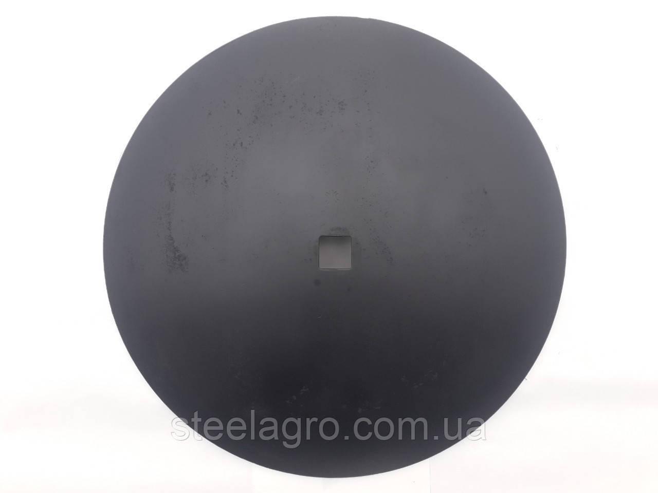 Диск борони Gregoire Besson D=710 мм, кв51х51мм, h=7мм гладкий ст30МпВ5 Грегорі бессон (851003798/851003898)