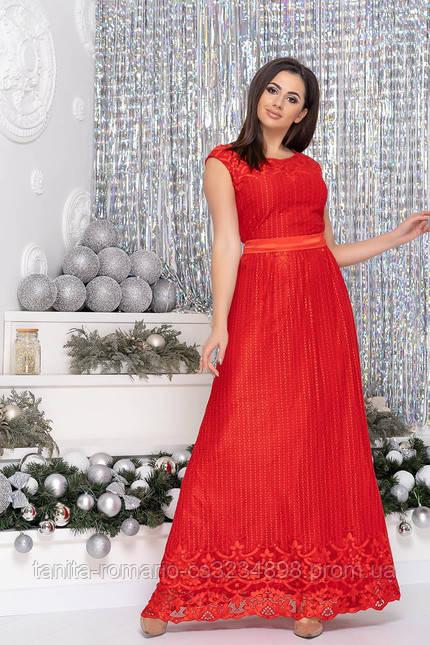 Вечернее платье 7172 Красный