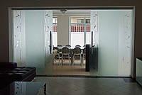 28 Раздвижная перегородка из стекла в частном доме - Стеклянная перегородка раздвижная - Стеклянные двери разд
