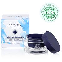 Дневной увлажняющий крем для сухой кожи лица с восстанавливающим эффектом против морщин ,50 мл,Satara Dead Sea