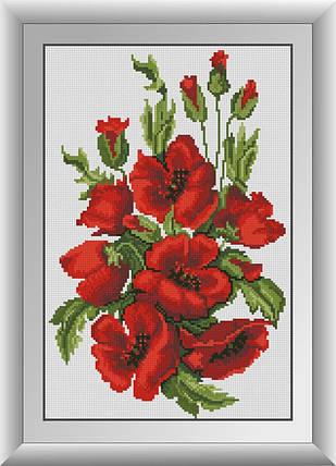 30474 Набор алмазной мозаики Цветущие маки, фото 2