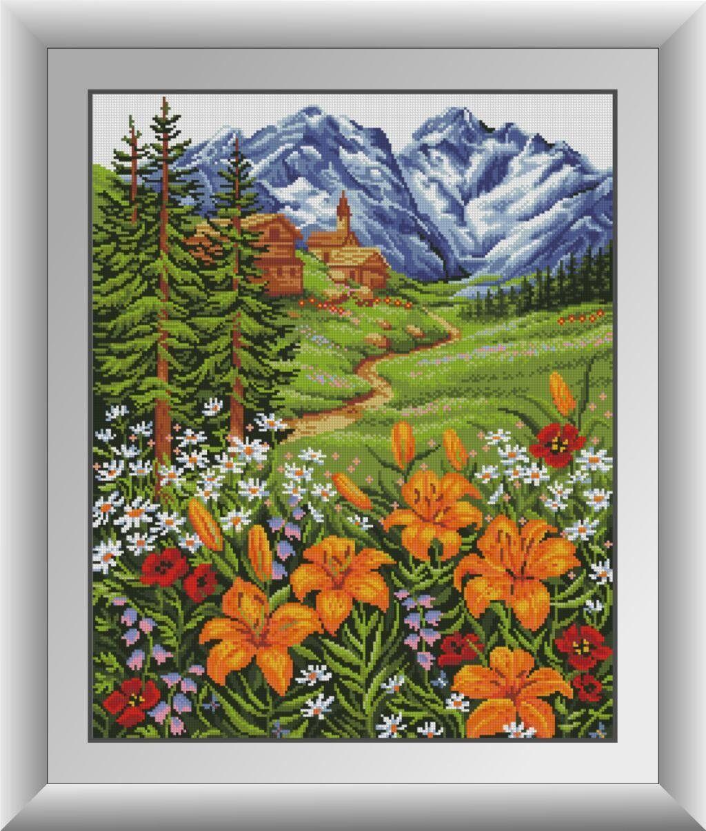 30480 Набор алмазной мозаики Горные лилии