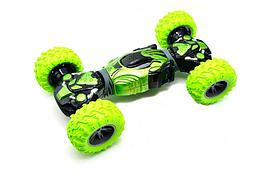 Машинка перевертыш Hyper Climbing Car Champions длина 34 см Зеленого цвета хайпер