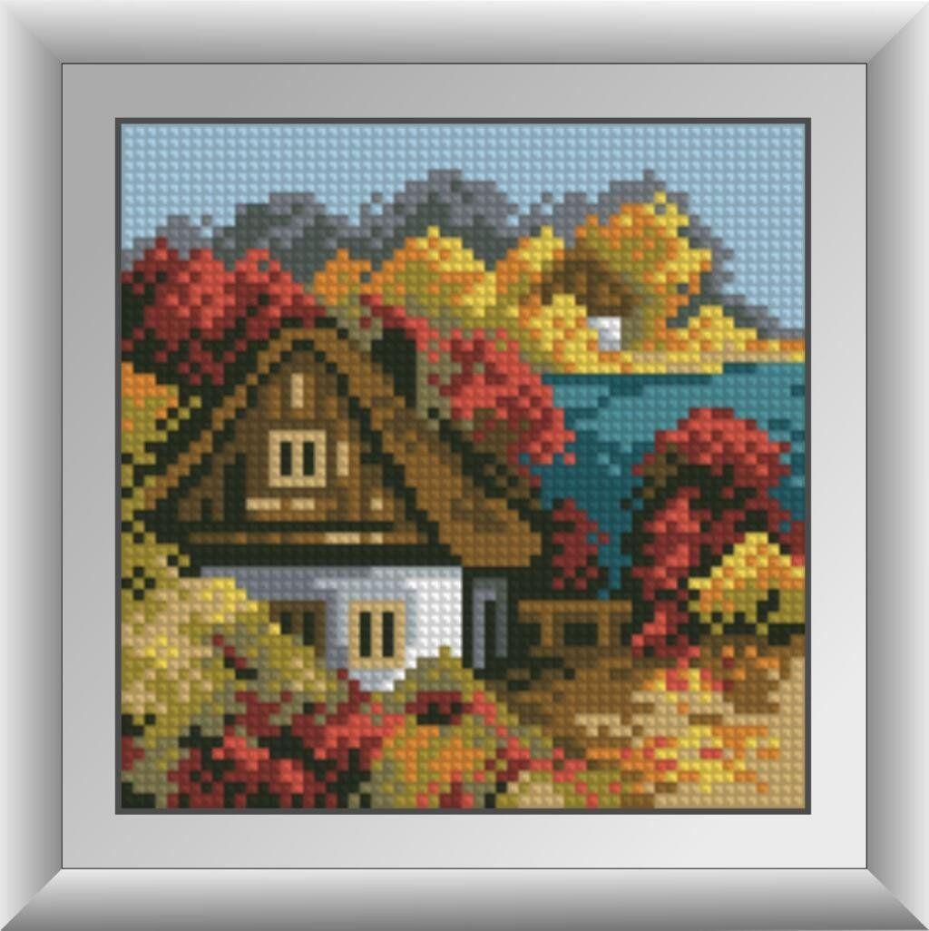 30486 Набор алмазной мозаики Осенний домик