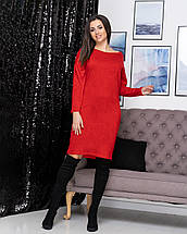 """Женское свободное платье из ангоры """"Стефани""""  Норма, фото 2"""