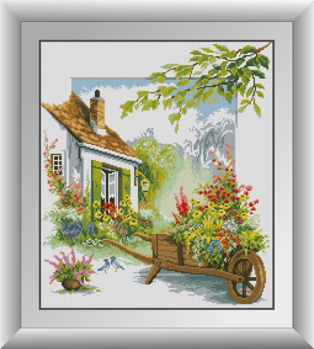 30501 Набор алмазной мозаики Цветочный дворик