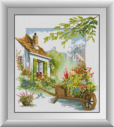 30501 Набор алмазной мозаики Цветочный дворик, фото 2