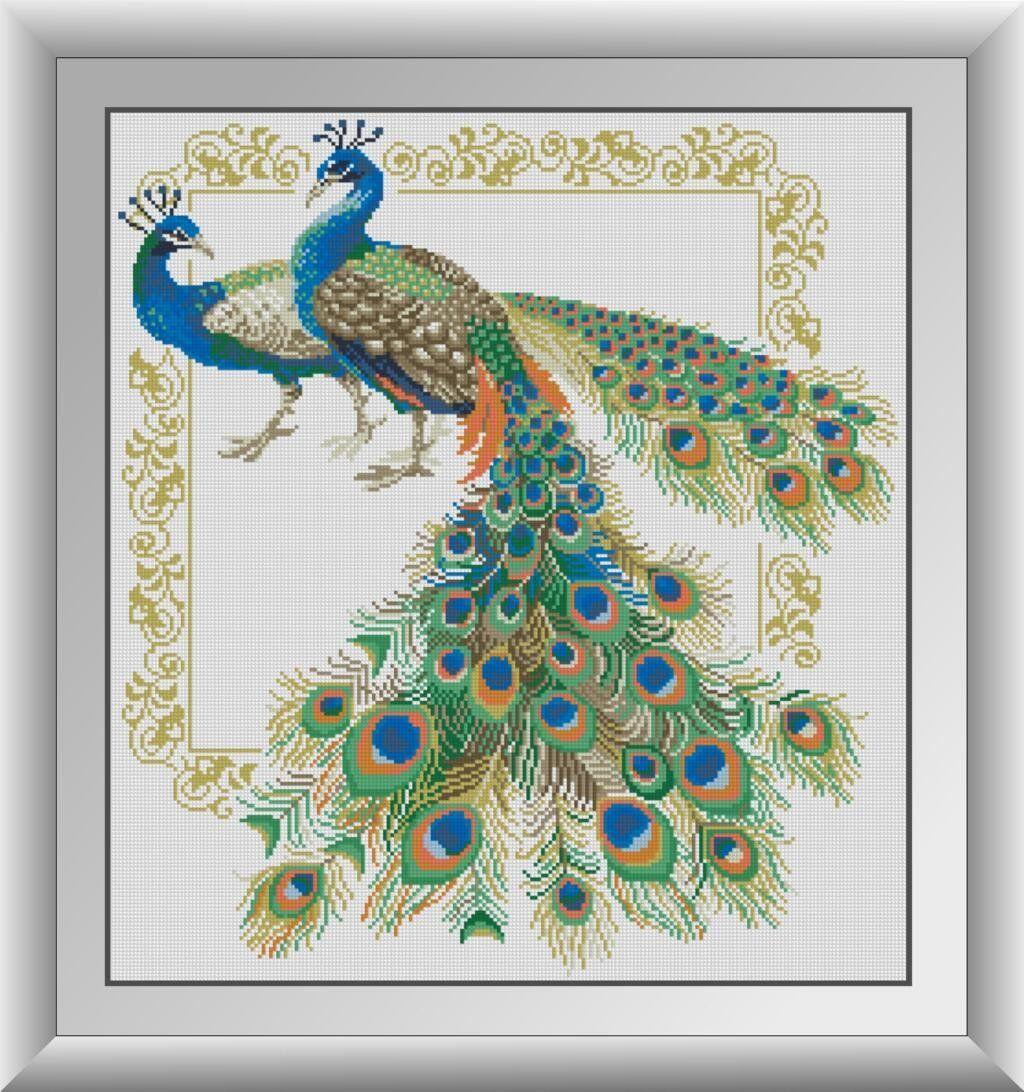 30506 Набор алмазной мозаики Пара павлинов