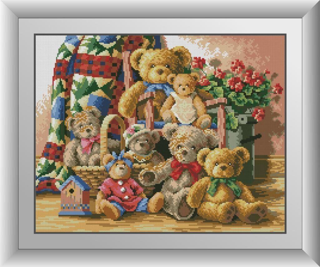 30508 Набор алмазной мозаики Семья мишек