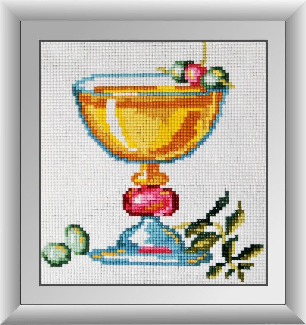 30522 Набор алмазной мозаики Коктейль с оливками