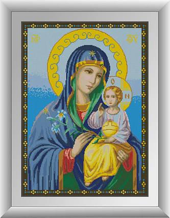 30533 Набор алмазной мозаики Икона Божьей матери Неувядаемый цвет, фото 2