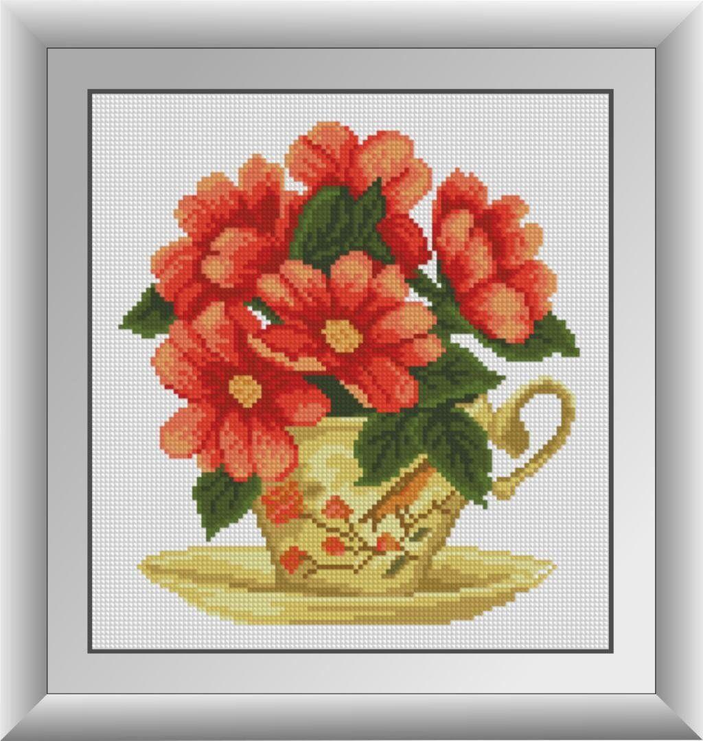 30563 Набор алмазной мозаики Цветочный чай