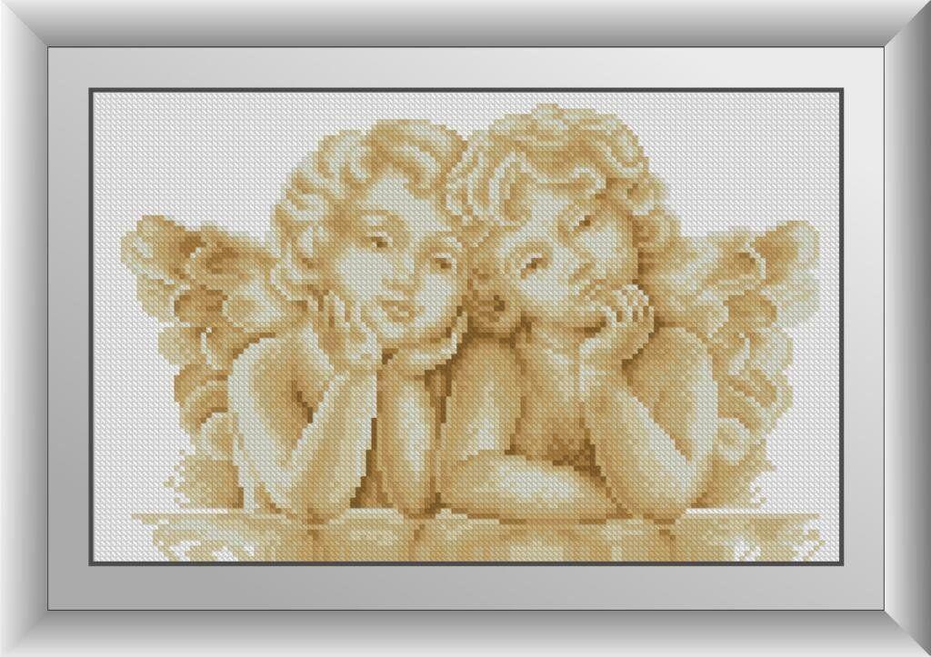 30590 Набор алмазной мозаики Два ангелочка