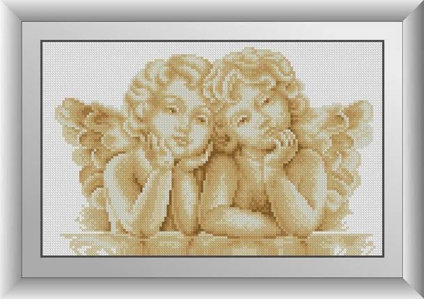 30590 Набор алмазной мозаики Два ангелочка, фото 2