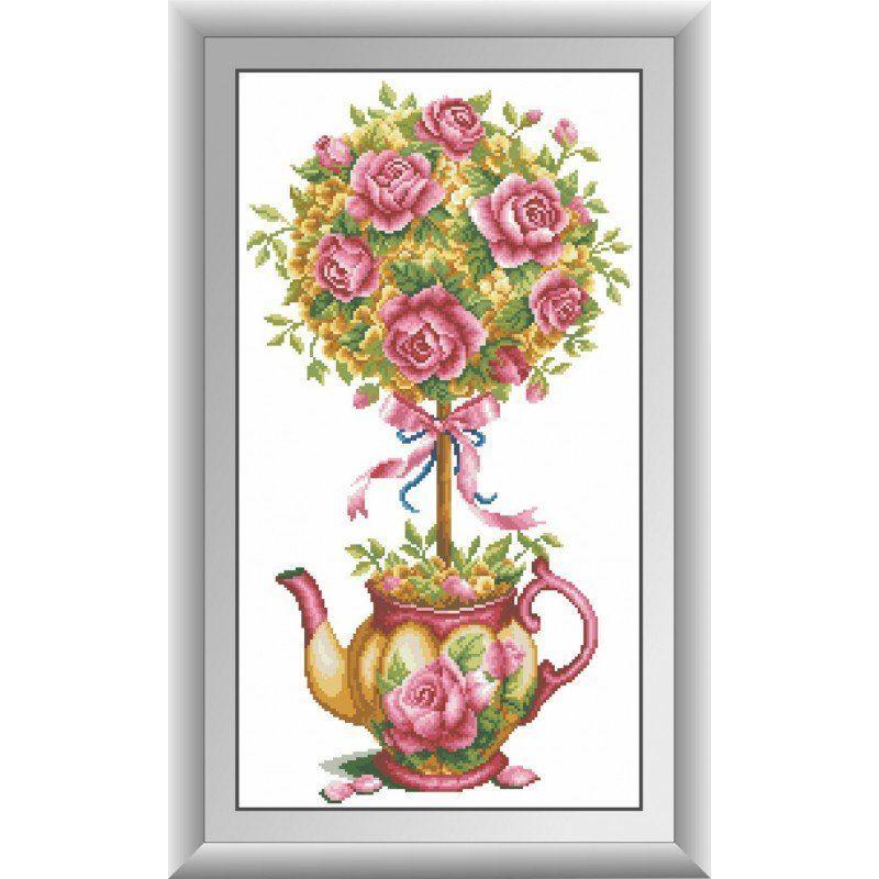 30601 Набор алмазной мозаики Магнолия и розы