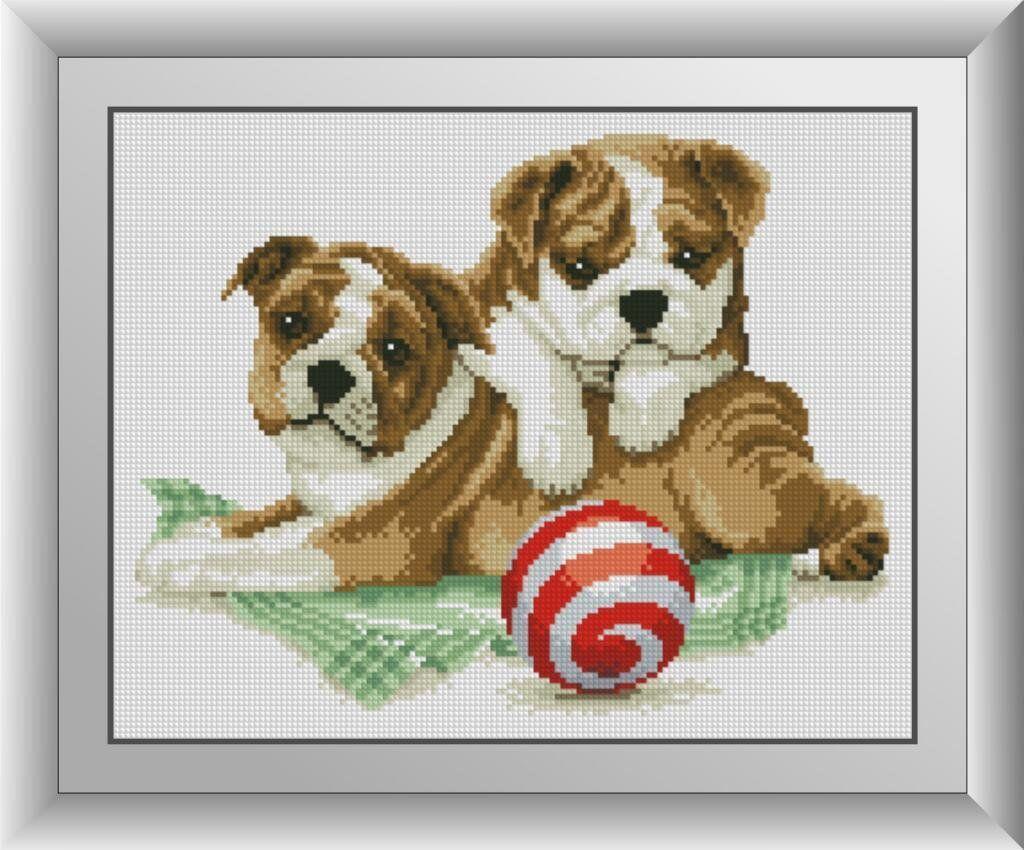 30630 Набор алмазной мозаики Два щенка