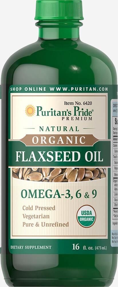 Puritan's pride Organic Flaxseed Oil (473 мл)