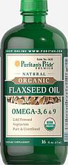 Puritan's pride Organic Flaxseed Oil (473 мл.)