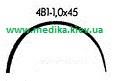 4В1 1,0 х 45 Игла хирургическая изогнутая  4/8 окружности