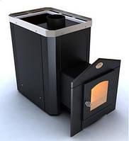 Печь-каменка «Классик» ПКС-01 Ч (12 м. куб) С2 двери со стеклом, дровяная печь банная