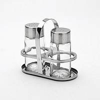 Набор для специй стекло в металлической подставке 2 пр. MB-2528 Mayer&Boch