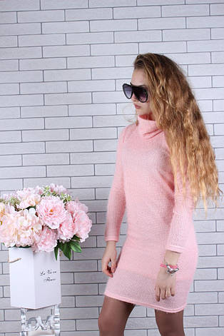 Подростковое платье для девочки р. 134-164 опт розовое, фото 2