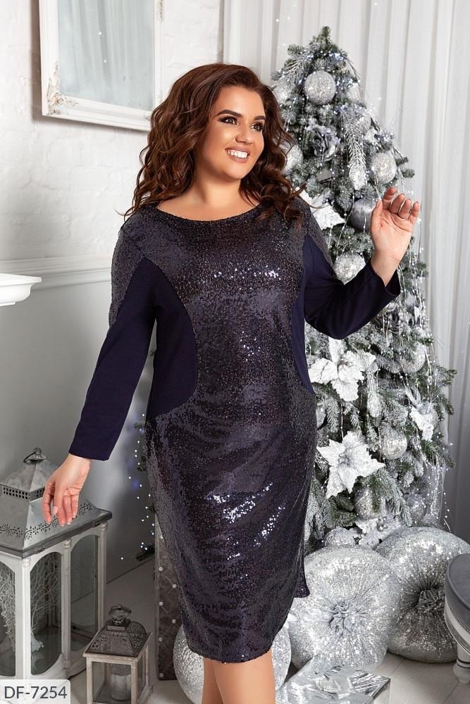 Стильное платье     (размеры 48-58) 0223-73
