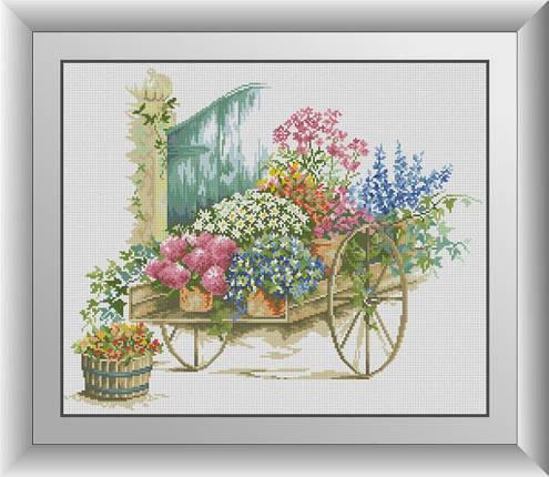 30657 Набор алмазной мозаики Цветочная композиция, фото 2