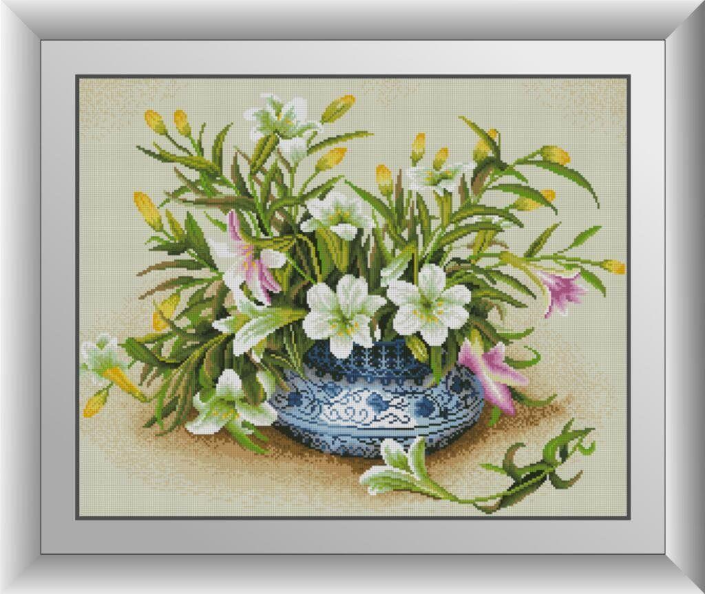 30658 Набор алмазной мозаики Лилии в вазе