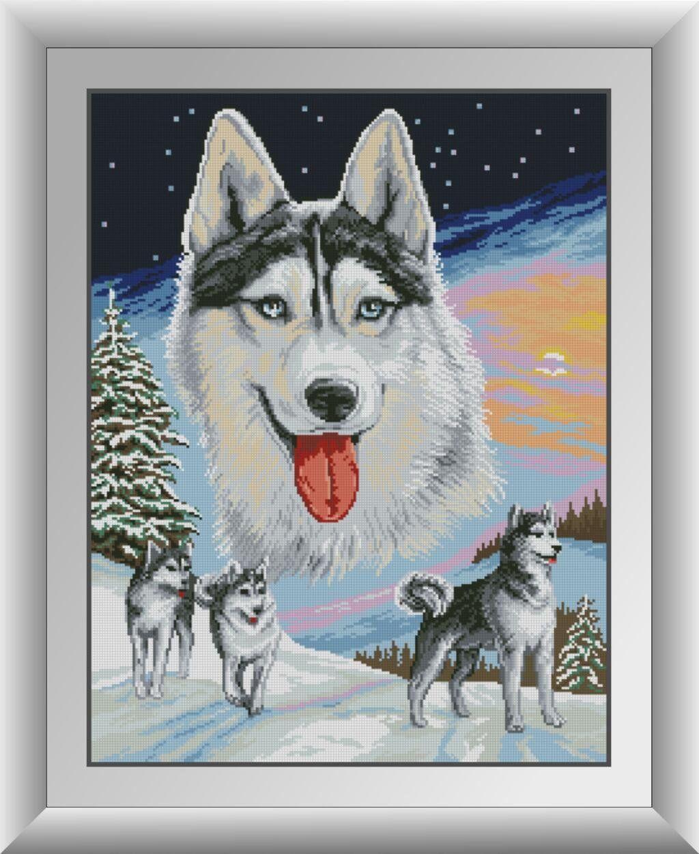 30673 Набор алмазной мозаики Волки