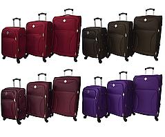 Набор дорожных чемоданов на 4 колесах Bonro Tourist набор 3 штуки