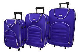 Набір дорожніх валіз на колесах Siker Lux набір 3 штуки Фіолетовий