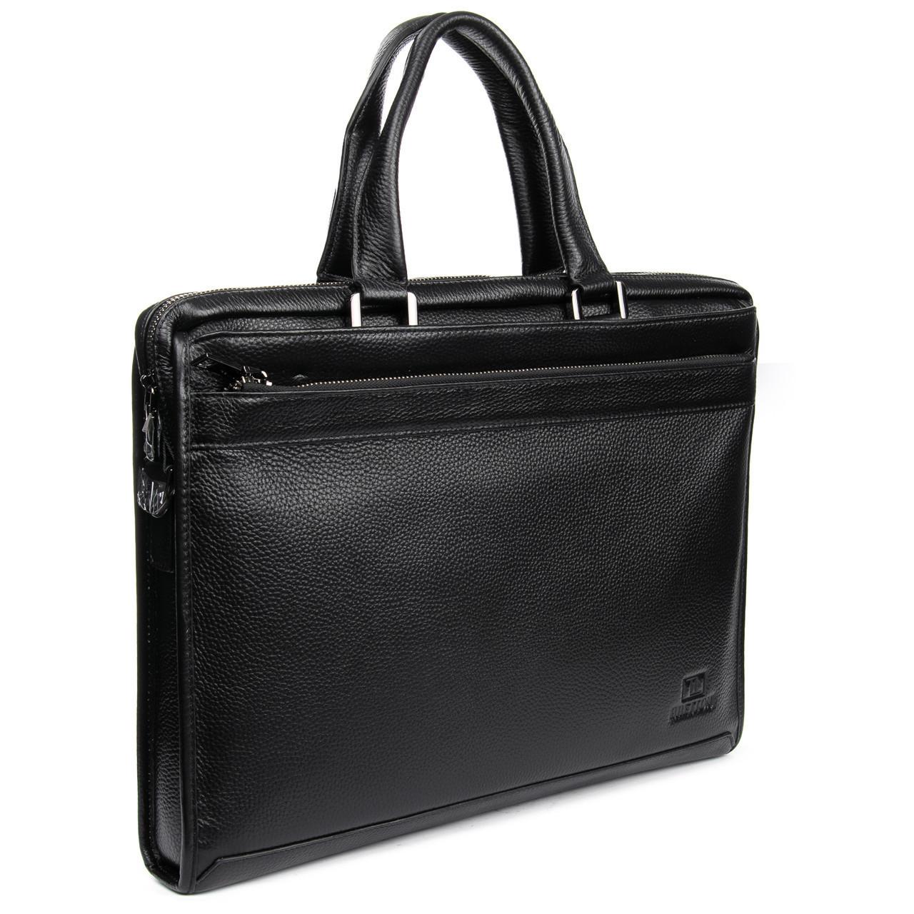 Портфель деловой кожаный BRETTON на 3 отделения