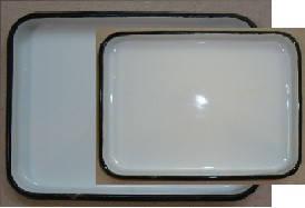 ЛУЭК-130 Лоток прямокутний емальований з кришкою 130 х 180 х 30 мм