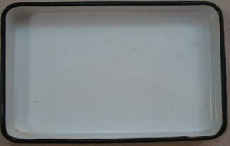 ЛУЭ-240 Лоток прямоугольный эмалированный  240 х 180 х 30 мм