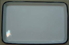 ЛУЕ-400 Лоток прямокутний емальований 400 х 300 х 35 мм