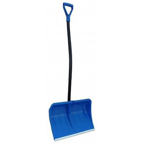 Лопата для снігу з морозостійкого пластику Prosperplast Alpinus Ergometal 550*385 / 1460 мм. ( синя )