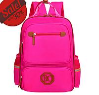 Рюкзак школьный голубой розовый синий. Ранец легкий 258Р