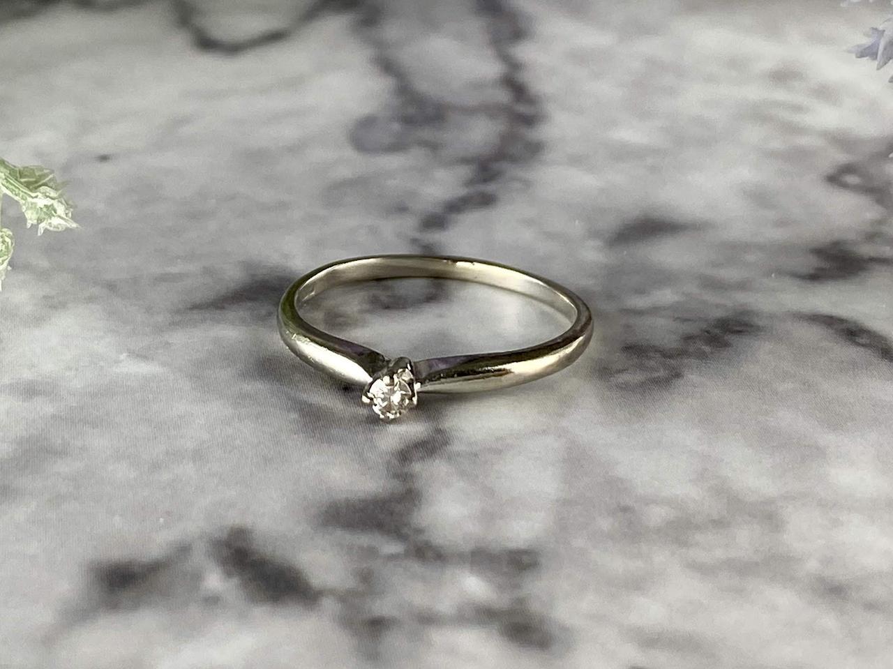 Золотое кольцо 10К (417 проба) с Бриллиантом