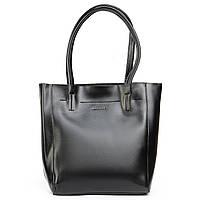 Кожаная женская сумка черного цвета 3397, фото 1