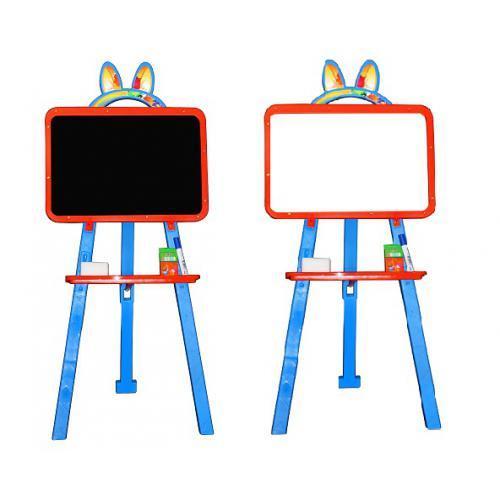 Детская магнитная доска для рисования 013777/7 оранжево-голубая