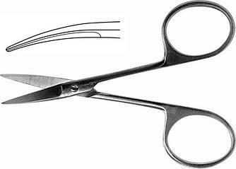 Н-21 Ножиці очні вертикально-вигнуті гострокінцеві 100мм