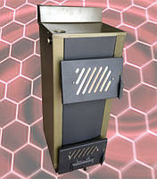 Котел твердотопливный Огонек КОТВ 25 В (с водонагревательным контуром)