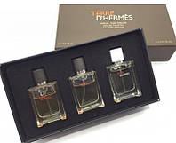 Мужской подарочный набор мини-парфюмов Terre D' Hermès 3в1, фото 1