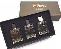 Чоловічий подарунковий набір міні-парфумів Terre D' Hermès 3в1