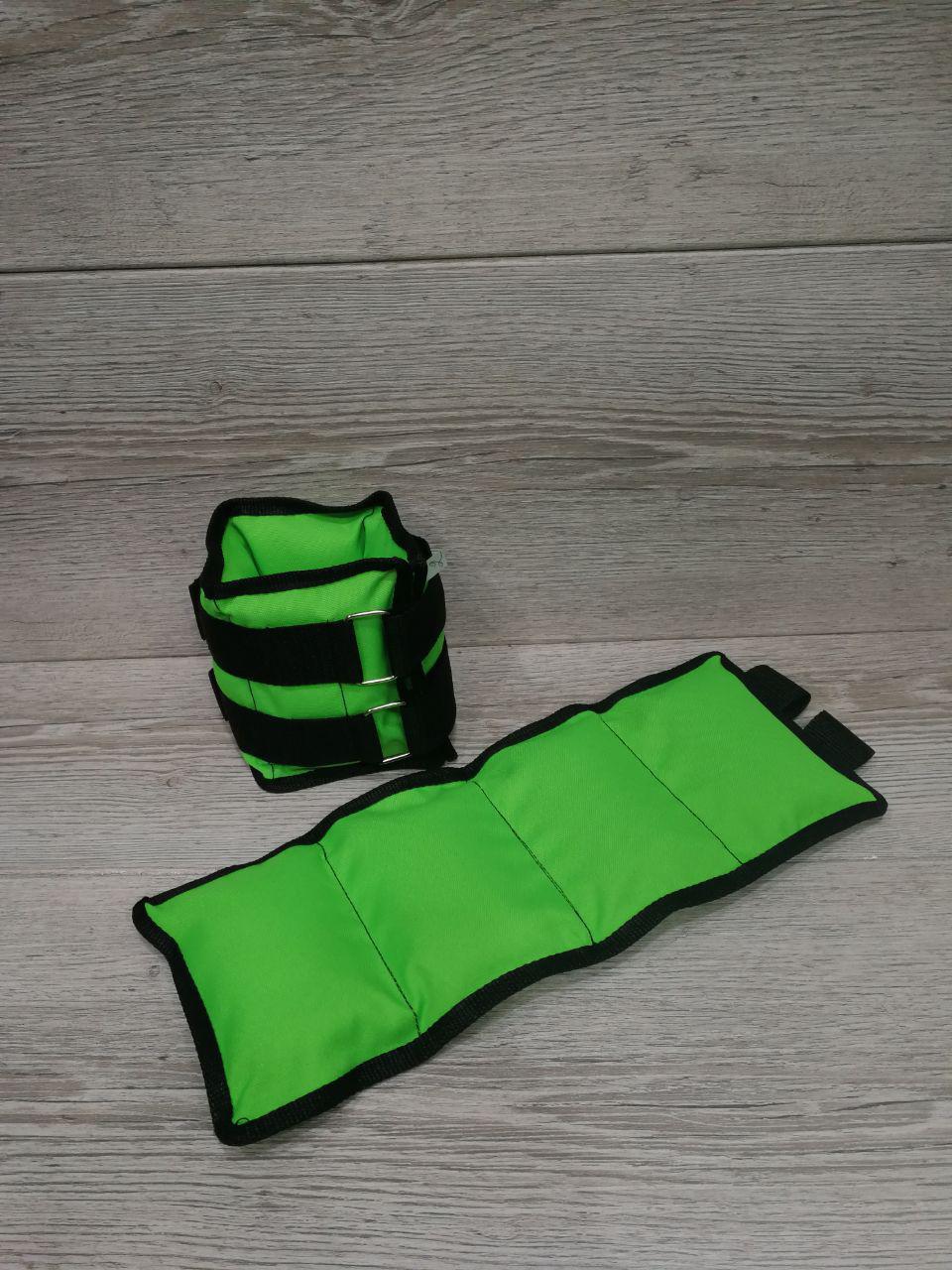 """Утяжелители для рук и ног """"STRONG ЭЛИТ"""" Light Green вес 7 кг (2*3,5кг)"""