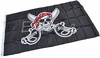 Пиратский флаг «Весёлый Роджер» с саблями 90х150см