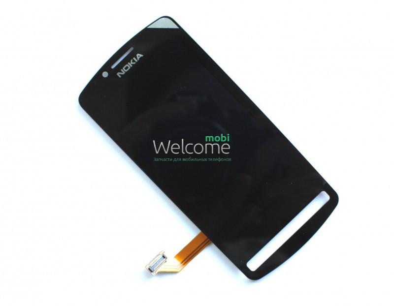 Модуль Nokia 700 black дисплей экран, сенсор тач скрин Нокиа Нокия